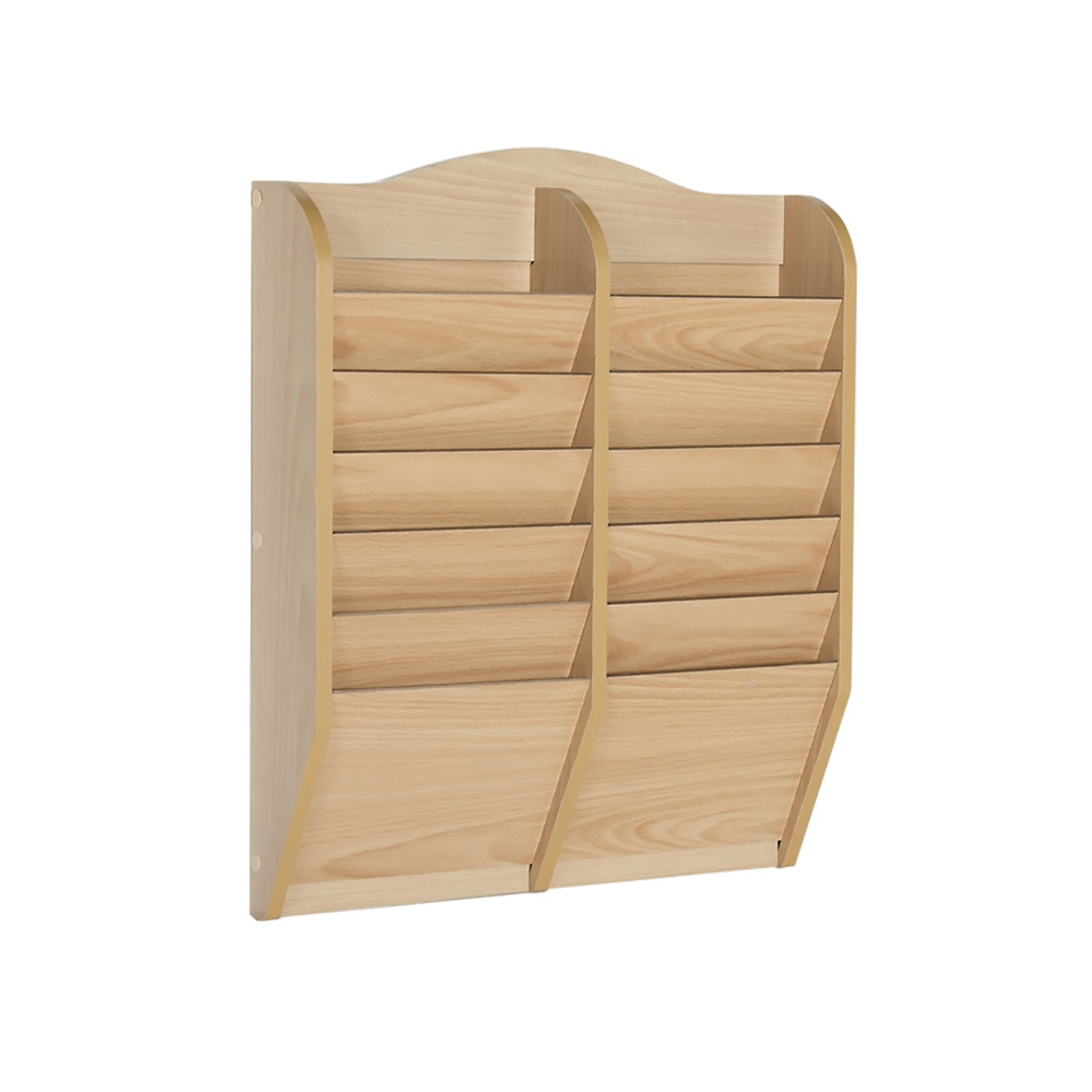 GuideCraft Magazine Rack 12 Section guidecraft expressions trophy rack natural