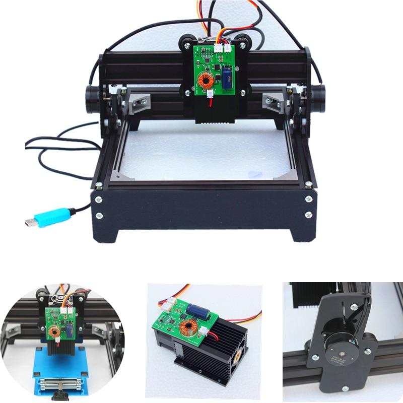 15 W laser 15000 MW bricolage machine de gravure laser 14*20 cm métal graveur machine de marquage métal sculpture CNC routeur machine