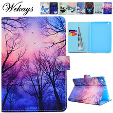 Wekays For Apple IPad Mini 3 2 1 Cartoon Flower Leather Fundas Case sFor Coque IPad Mini 1 2 3 Tablet Cover Case For IPad Mini 2 goojodoq for ipad mini 4 case mini 1 2 3 cover kids students baby safe silicone soft protective case for apple ipad mini 4