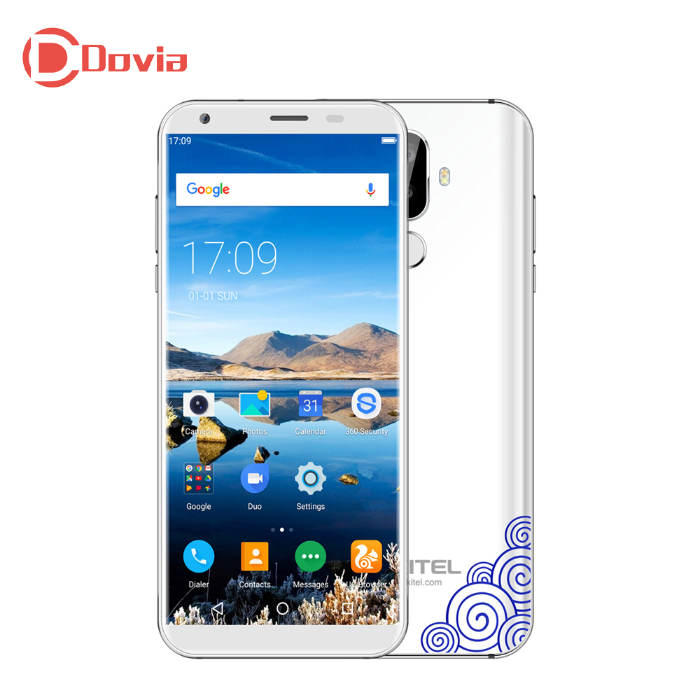 OUKITEL K5 4G Smartphone 5.7 Inch Android Quad Core 2GB 16GB 4000mAh Battery Dual Rear Cameras Fingerprint Recognition Phone