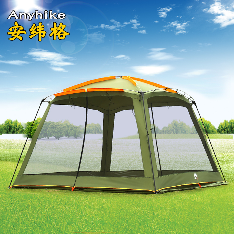 New style good quality 4Corners garden arbor Multiplayer leisure party camping tent Awning shelter