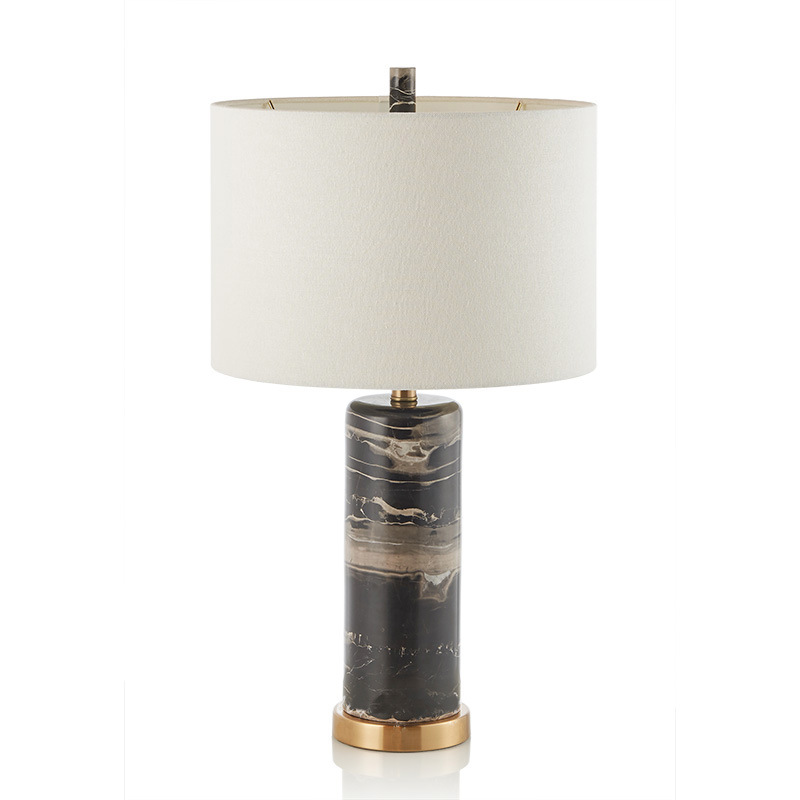 Post-modern American Country Rural Marble Fabric Led E27 Table Lamp For Living Room Bedroom Study H 70cm Ac 80-265v 1409