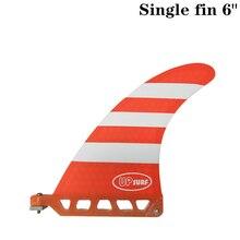 цена Surf longboard fin 6 inch Barbatana Surf 6 inch Fin Fibreglass Barbatana in Surfing single Fin stand up paddle Red/Blue color онлайн в 2017 году