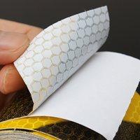 Новое поступление черного, желтого цвета светоотражающие безопасности Предупреждение видимости лента Стикеры 300 см x 5 см Предупреждение ленты защиты безопасности