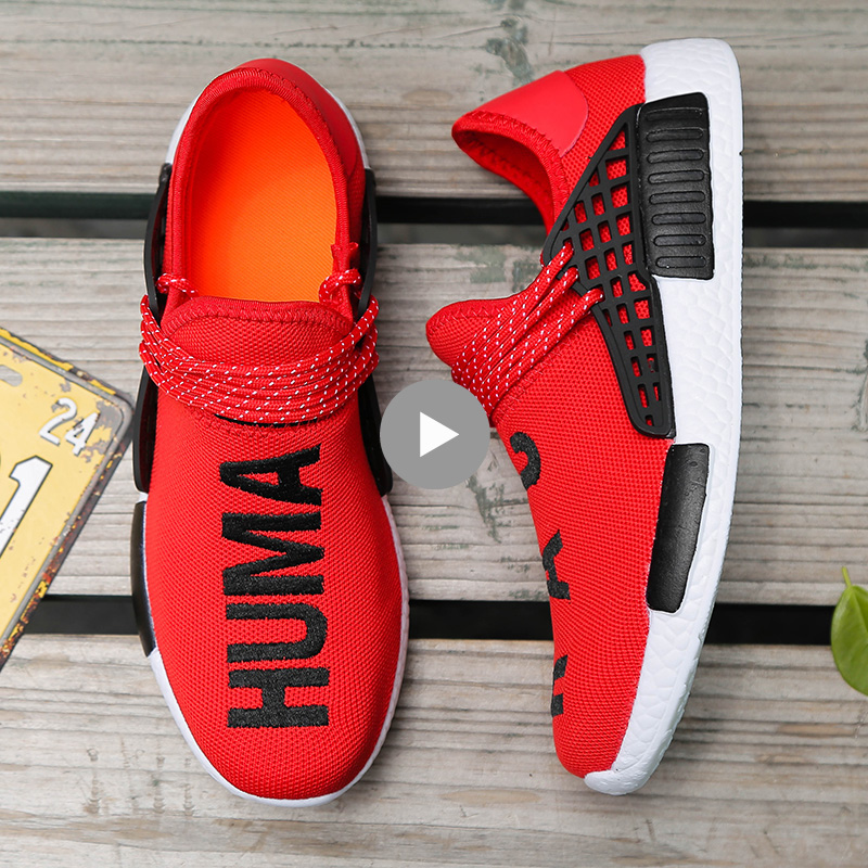 PINSEN 2018 Sneakers Men Human Race Unisex Spring Casual Men Shoes Breathable Flats Shoes Men Trainers Shoes chaussure homme 2017new men casual shoes elastic breathable massage flats shoes spring summer men s flats men sapatos chaussure homme masculinos