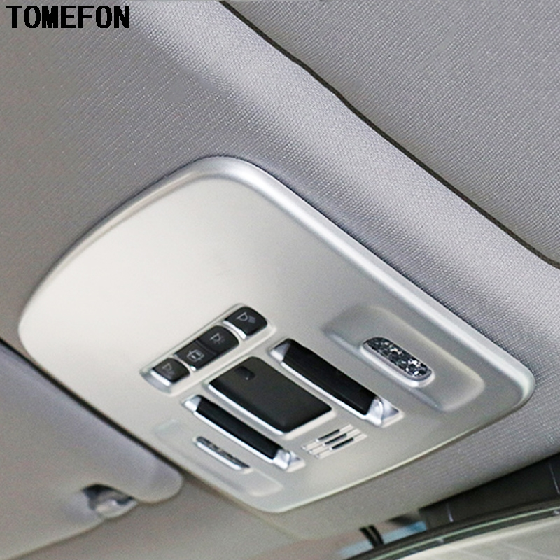 TOMEFON ABS Chrome Carbon Fiber Paint For Toyota Camry 2017 2018 Front Reading Lamp Light Roof Reading Light Cover Auto Styling