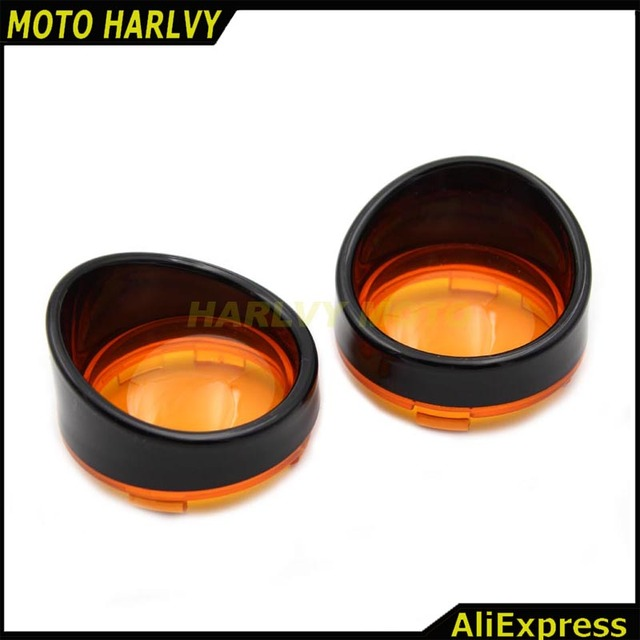Bezels couvercle de lentille visière noir clignotants anneau Kit pour Harley Touring route roi visière Style Sportster