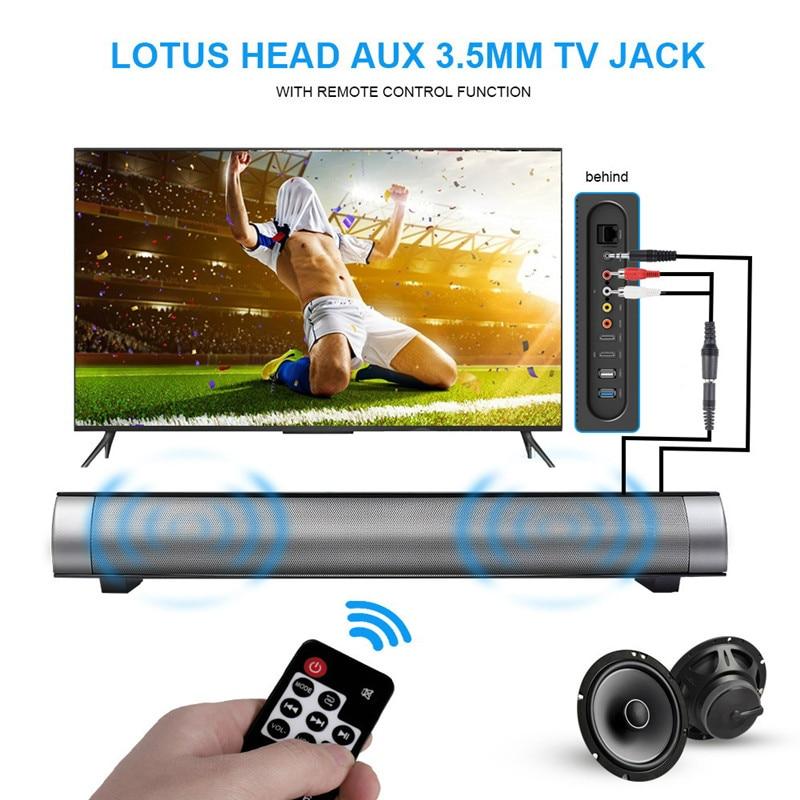Télécommande sans fil Bluetooth haut-parleur barre de son magnétique stéréo son caisson de basses haut-parleur HIFI Boombox haut-parleurs ordinateur tablette ETC