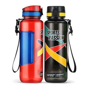 Image 2 - UZSPACE 스포츠 물병 대용량 남성 휴대용 크리 에이 티브 트렌드 주전자 야외 피트니스 공간 플라스틱 병 BPA 무료