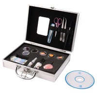 Professional False Extension Eyelash Glue Brush Kit with Case Box Salon eyelash extensions Tool makeup maquiagem