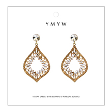 YMYW Fashion Exquisite Drop Noble Crystal Earrings Bling Charming  Wedding Party Dangle for Womens 2019 New