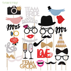 Tomking Mr Mrs Just Married Funny Photo Booth Props Bride Groom Sparkling Wedding Decoration Bridal Shower Event Party Supplies