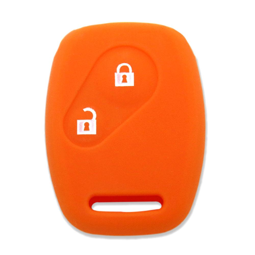 Vehemo 2 кнопки дистанционного Fob крышка силиконовый чехол для ключей держатель Автомобильный Чехол для пульта дистанционного управления мягкий Автомобильный ключ оболочки для Honda FIT защита