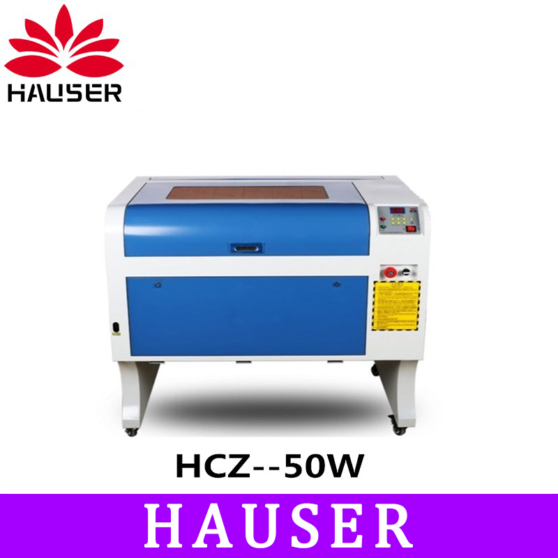 Envío Gratis HCZ 50 w co2 láser CNC m2 4060 de grabado láser máquina de corte láser máquina de marcado láser grabador cnc routerdiy