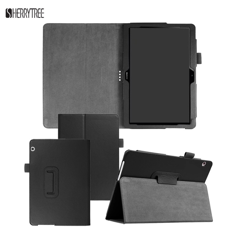 Litchi 9 6 Tablet Folding Stand PU Cover Case For Huawei Mediapad T3 10 Protective Skin