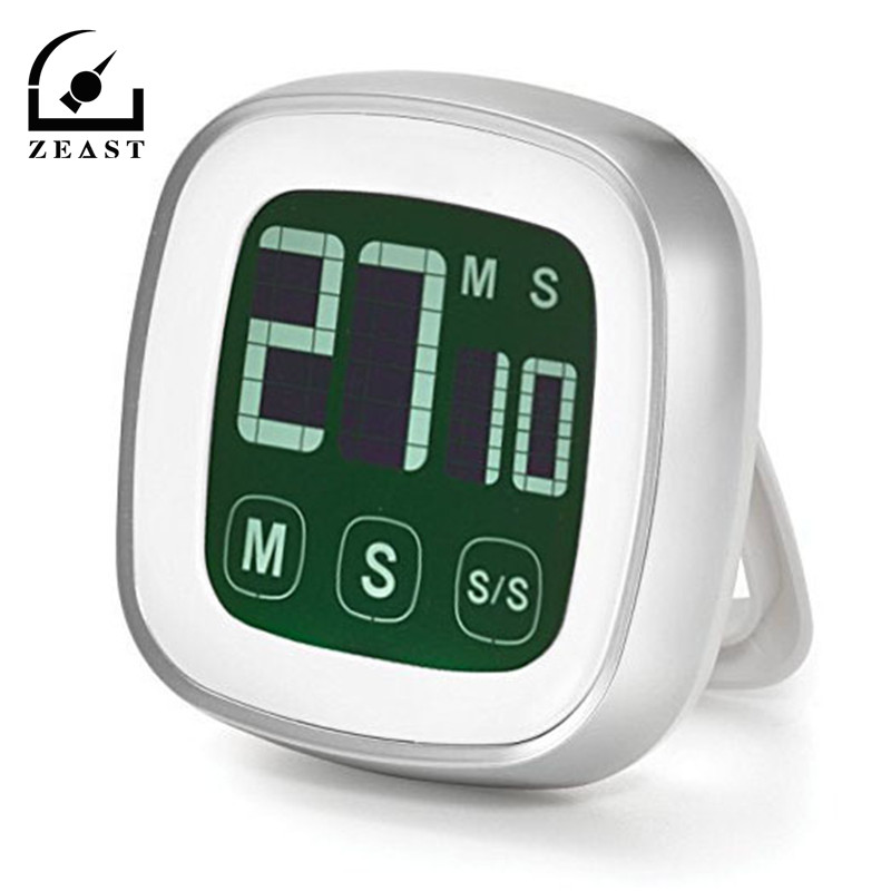 Touch screen Digital Timer with Loud Alarm Backlit Display Count Down and Up Stopwatch Cooking Bread BBQ Kitchen Timer