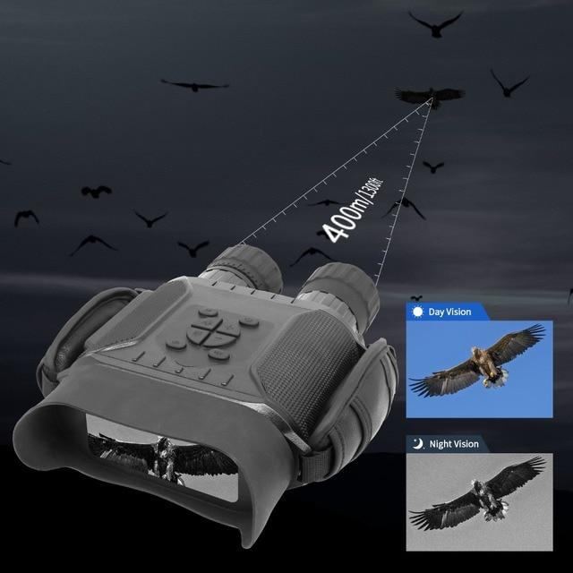 Professional Night Vision 32G IPX4 400m HD IR Camera Photo Video 5x Zoom set time Widescreen Monocular Binoculars for hunting 2