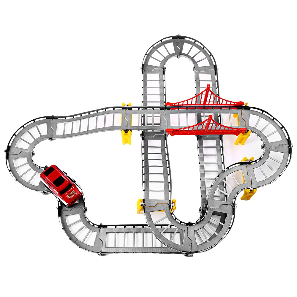 Multi-Track Rail Car Electronic Racing Car track Kids Toy Childrens Game Boys Xmas Gift  ...