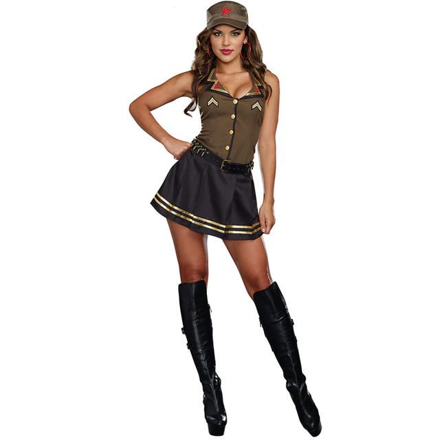 New Listing Adult Women Sexy Army Brat Military Halloween Carnival Party Costume  sc 1 st  AliExpress.com & New Listing Adult Women Sexy Army Brat Military Halloween Carnival ...