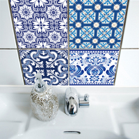 Funlife 20 20cm 10pcs 7 87 7 87inch Bathroom Blue And White Porcelain Tile Stickers Decals