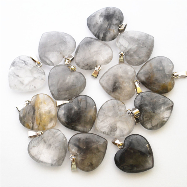 Wholesale fashion natural devil crystal smog quartz stone pendants wholesale fashion natural devil crystal smog quartz stone pendants charms for women necklace jewelry making 24pcs mozeypictures Gallery