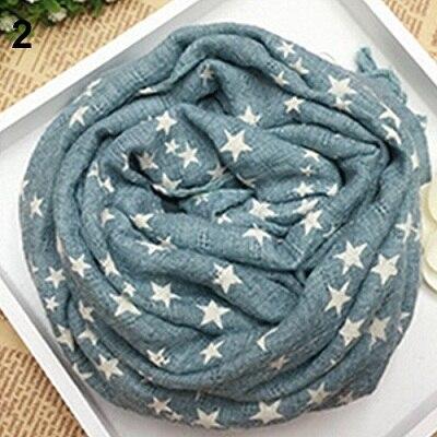 Горячая Распродажа; детская теплая шаль со звездами и пентаграммой для девочек; сезон осень-зима; подарочные накидки; мягкий шарф; N83Y 7FYA - Цвет: 2