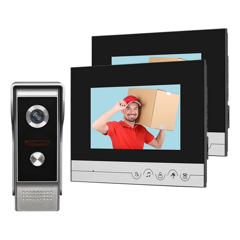 NEW 7'' Color Wired Video Intercom System Doorbell Camera IR CMOS Night Vision Metal Waterproof 700TVL For Private House Home