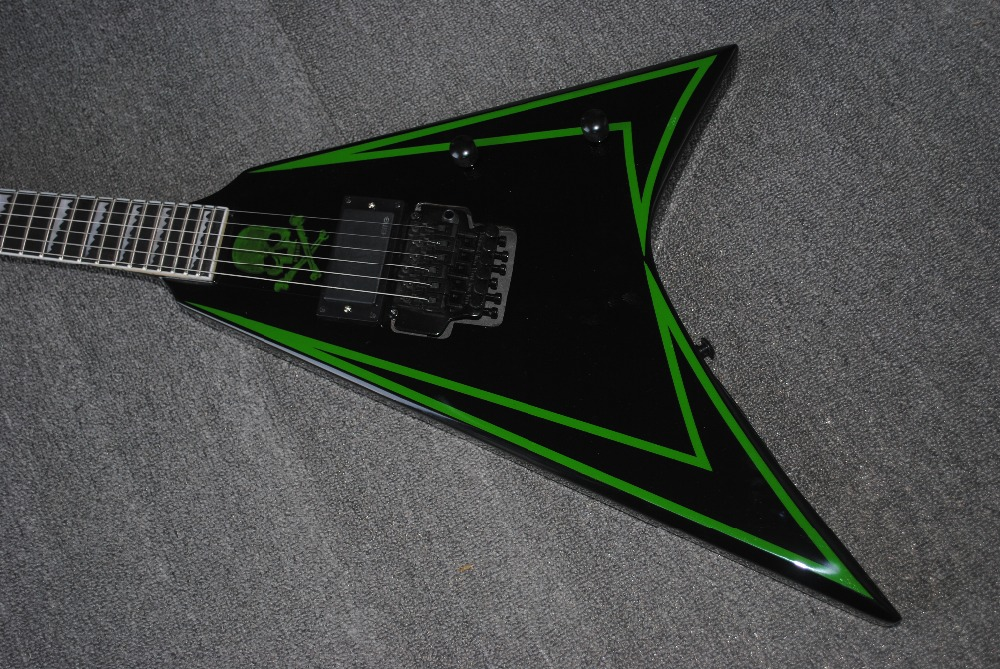 Factory custom flying V electric guitar 6 strings guitars with ebony fingerboard musical instrument shop