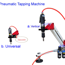 Arm-Collet Pneumatic-Tapping-Machine with 6pcs M3-M12 Top-Quality Vertical Universal