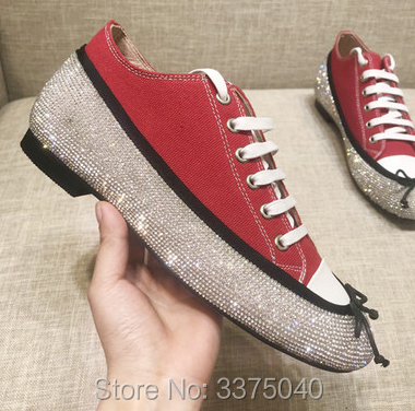 New Fahion Lady Flat Shoe Denim Lace Up Bling Bling Diamond Studded Bowtie Casual Shoe Women Spring Shoes 2016 spring new fashion hot sale women sandal casual lace lazy shoe women flat shoe hsc20