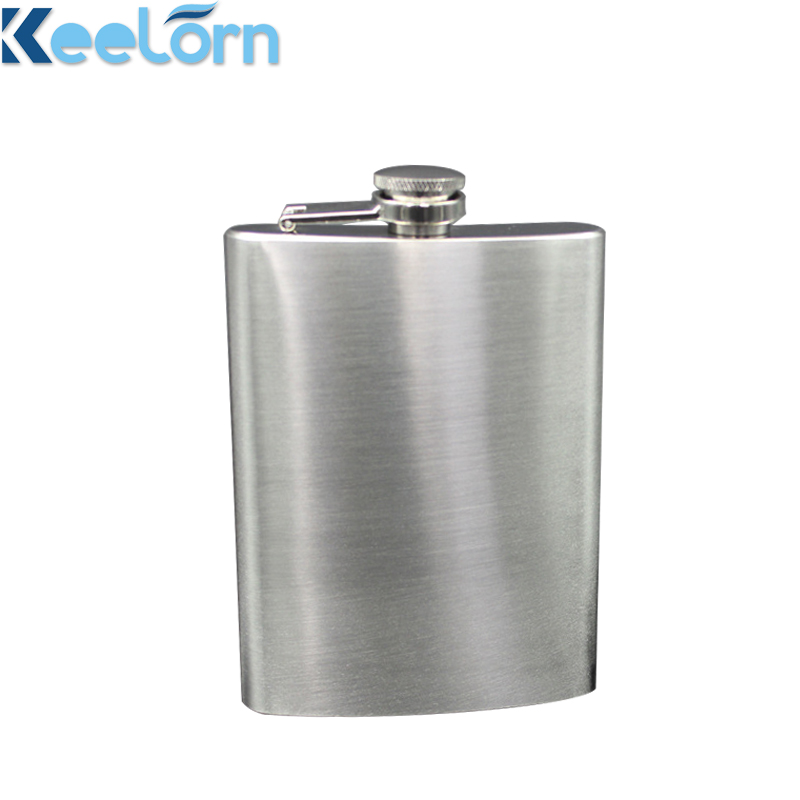 Keelorn 8OZ High Quality 304 Stainless Steel 2018 New Fashion Whisky Brandy With Leather Case Flagon