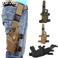 Outdoor Hunting Waterproof Tactical Puttee Thigh Leg Pistol Gun Leg Holster Pouch