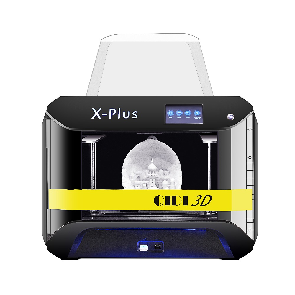 QIDI TECH Large Size Intelligent Industrial Grade 3D Printer New Model:X-Plus,WiFi Function,High Precision Printing with ABS,PLA 2017 newest high quality qidi tech i dual extruder 3d printer with upgraded 7 8 version motherboard w 2 free abs pla filaments