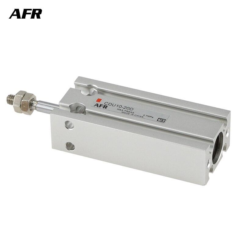 SMC TIPO CDU25 CU25 série Livre Montagem Cilindro Haste Simples de Duplo Furo 25mm-5 para 50mm CDU25-5D/10D /15D/20D/25D/30D/40D/50D