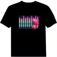 Sound Activated EQ LED T-shirt