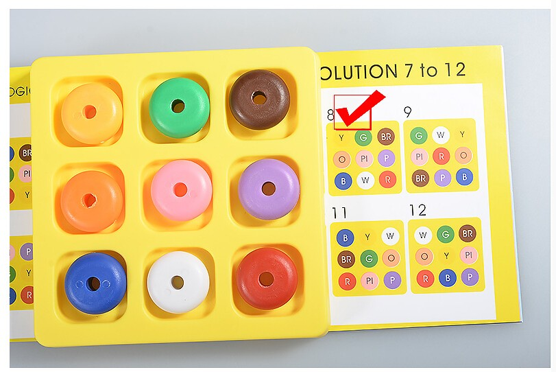 Quality IQ Logic Puzzle Game Mind Brain teaser Educational Puzzles Toys Gift for Children Kids