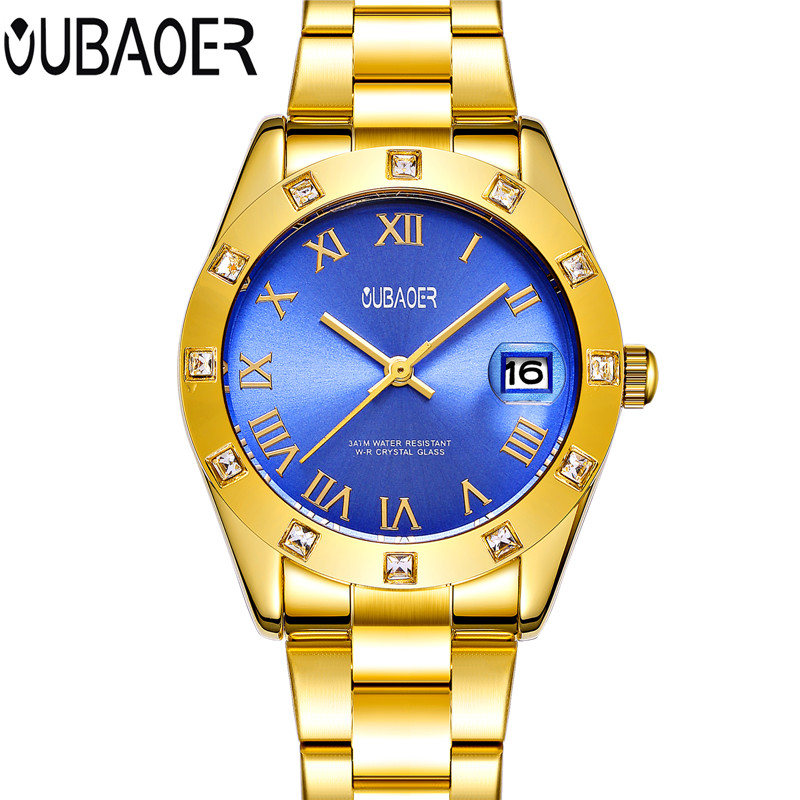 OUBAOER Luxury Relogio Feminino Waterproof Women Watch Ladies Quartz Watch Women Wristwatch Montre Femme Reloj Mujer 2017 sinobi ceramic watch women watches luxury women s watches week date ladies watch clock montre femme relogio feminino reloj mujer