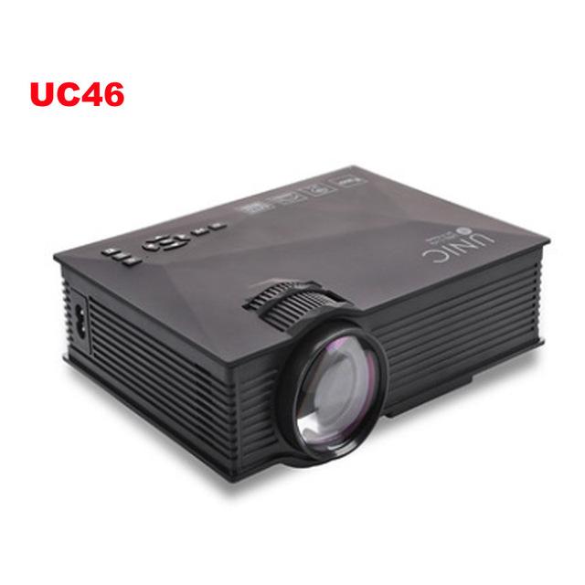 WI-FI sem fio-UC46 exibição Miracast Mini Projetor Portátil Home Theater 1200 Lumens LED Projetor USB VGA HDMI SD Card AV Wi-fi