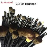 TOP Quality Professional 32 PCS Cosmetic Facial Make Up Brush Kit Makeup Brushes Tools Set With
