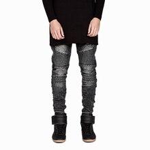 Плюс Размеры 28-42 Мужская Slim Fit прямые джинсы джоггеры Брюки High Street Байкер Джинсы Проблемные Уничтожено брюки