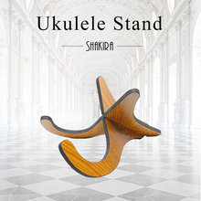 Ukulele Stand Wooden Foldable Holder Stand Collapsible Vertical Guitar Display Stand Rack Musical Instrument Part Accessories
