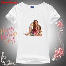 Super Mom T-shirts for  Mothers Day Gift Print White Female T-shirt Tee Shirt Vogue T Tops Womens Clothes