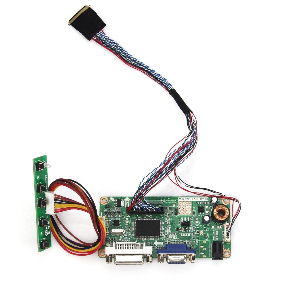 (VGA+DVI) M.RT2261 M.RT2281 LCD/LED Controller Driver Board For LP173WD1 LTN173KT01  LVDS Monitor Reuse Laptop 1600x900