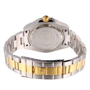 Image 2 - Reginald Reloj de acero japonés para hombre, Miyota Movt sólido Endlink, bisel giratorio, fecha GMT, relojes de cuarzo de acero inoxidable, resistente al agua