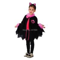 Black Cat Cosplay Fancy dress Halloween Costume include Cloak + Headband
