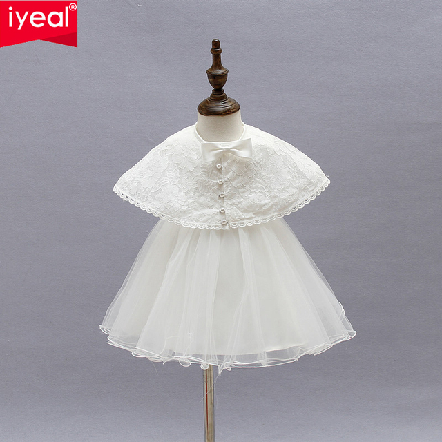 4b6398e4 Brand Princess Toddler Baby Girl Party Dress Ceremonies 1 Year Birthday  Baptism Dresses With Shawl For