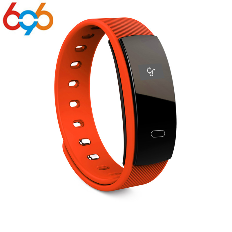 696 QS80 Smart Bracelet Heart Rate Blood Pressure Fitness Tracker Smart Electronics 0.42 inch TFT OLED Wristband