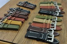 New ! 1PCS 22MM handmade genuine cow leather Watch band watch strap 6 colors available