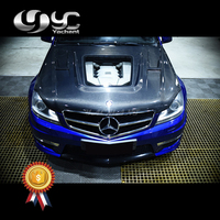 Car Styling Portion Carbon Fiber / Double Sided CF Front Bonnet Hood Fit For 2011 2013 MM W204 C63 iMP Performance Hood Bonnet