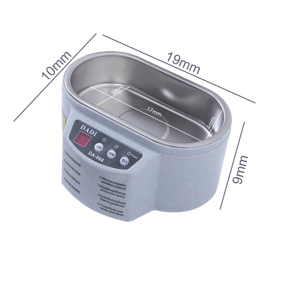 Mini Ultrasonic Cleaner Made Of Stainless Steel Material For Jewelry Glasses And Watch 3